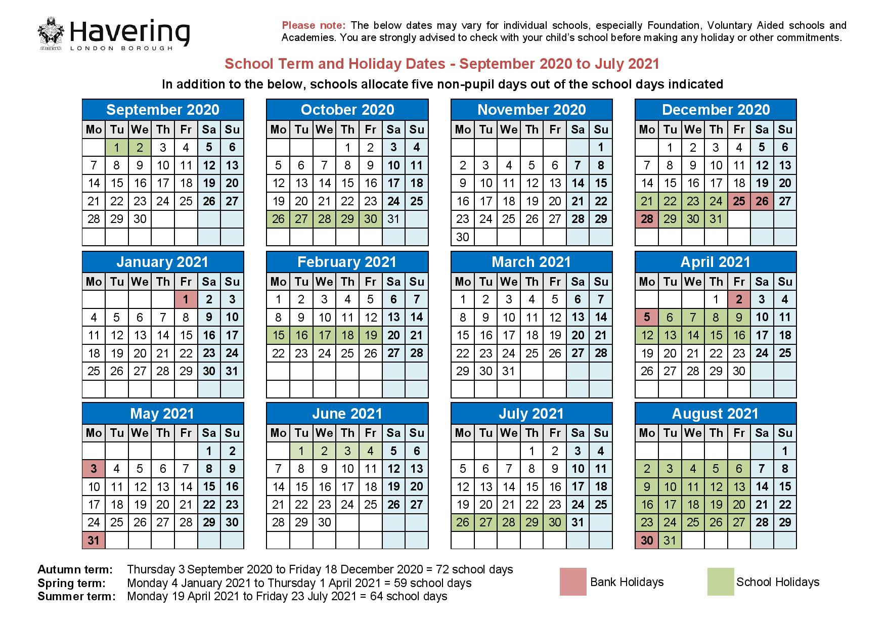 Hornchurch High School Term Dates